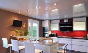 Натяжные потолки для кухни.